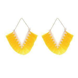 3/$20 New Yellow & Gold Tassel Earrings